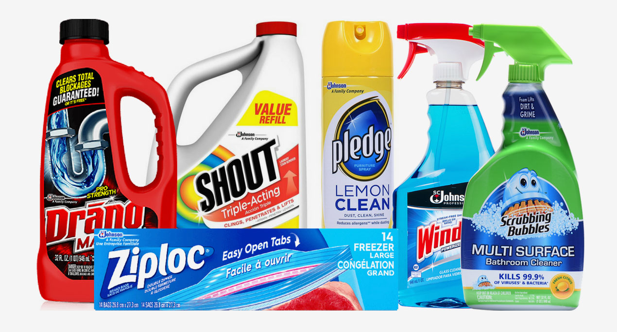 S.C. Johnson is a leading manufacturer of household cleaning products and products for home storage, air care, pest control and shoe care, as well as professional products.